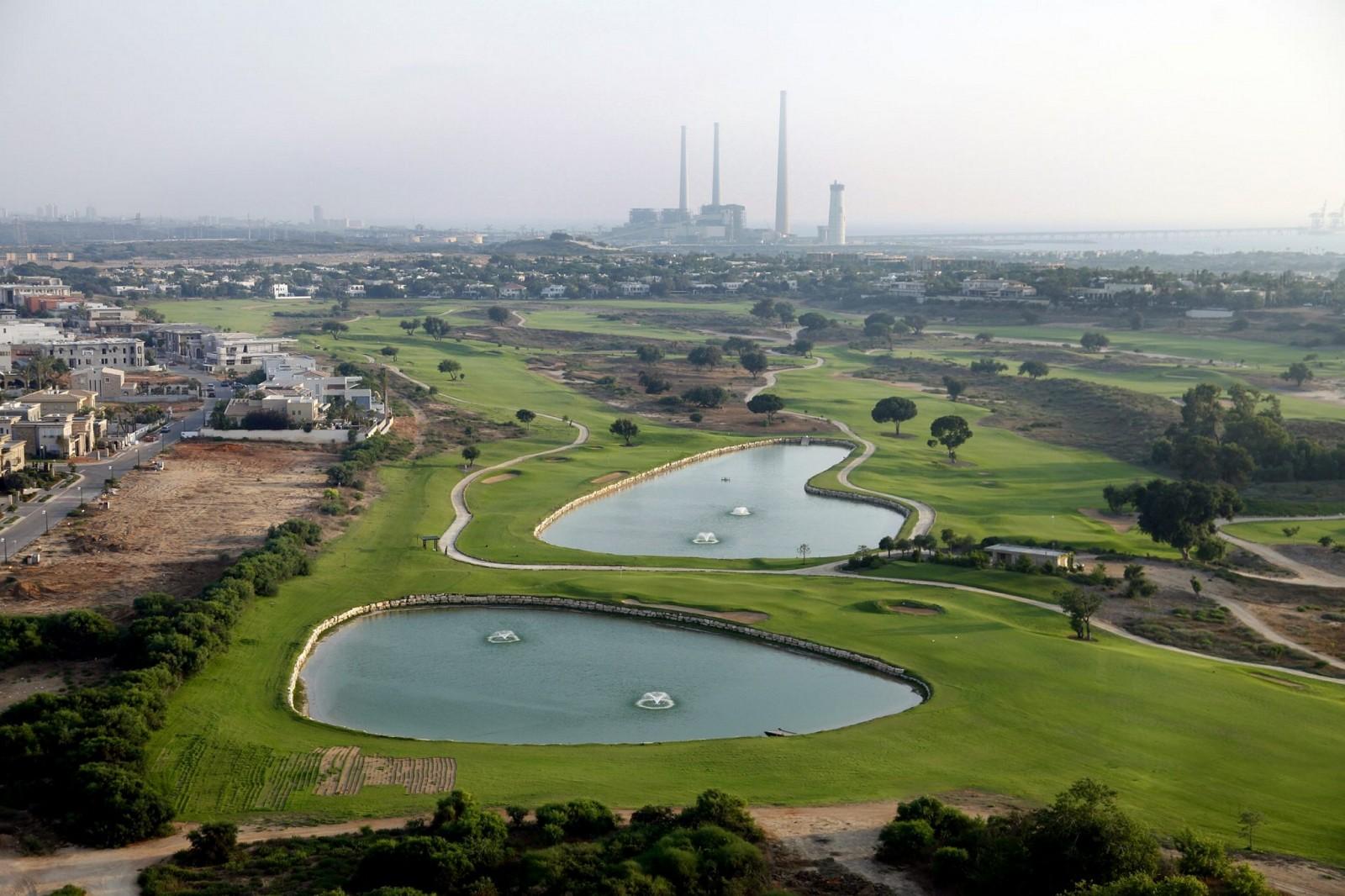 Campo de golf de Cesárea. Foto por Moshe Shai/FLASH90