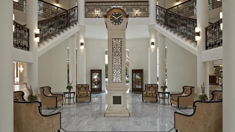 Vestíbulo del Waldorf Astoria. Foto: cortesía