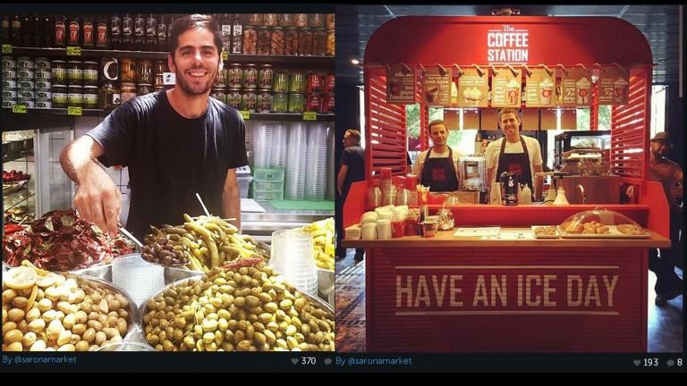 El complejo comercial de Sarona Market es el mercado culinario de interior más grande del país. Foto cortesía de Sarona Market Instagram