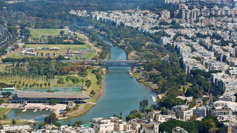 Vista aérea del Parque Yarkon. Foto de Moshe Shai/FLASH90