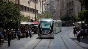 El tranvía de Jerusalén. Foto de Yonatan Sindel/Flash90