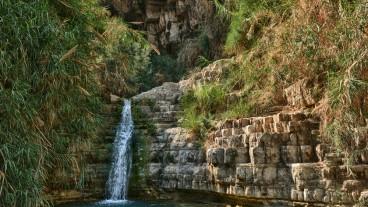 Una de las muchas cascadas del parque.