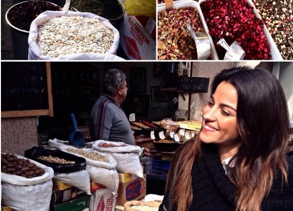 Maite Perroni en un mercado al aire libre. Foto de Instagram.