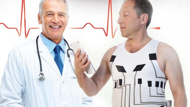 La camiseta funciona como electrocardiograma. Foto cortesia.