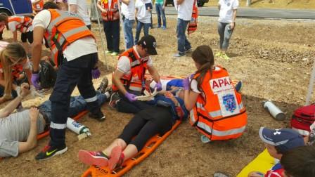 El simulacro fue parte de un entrenamiento en el que participaron socorristas de Hatzalah de Israel y Panamá. Foto: Departamento del Portavoz de United Hatzalah.