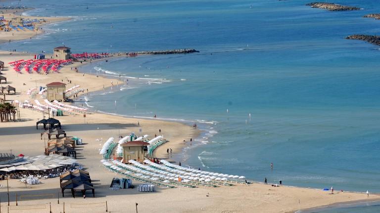 Aspecto de la playa de Tel Aviv. Foto cortesía de la Alcaldía de Tel Aviv.