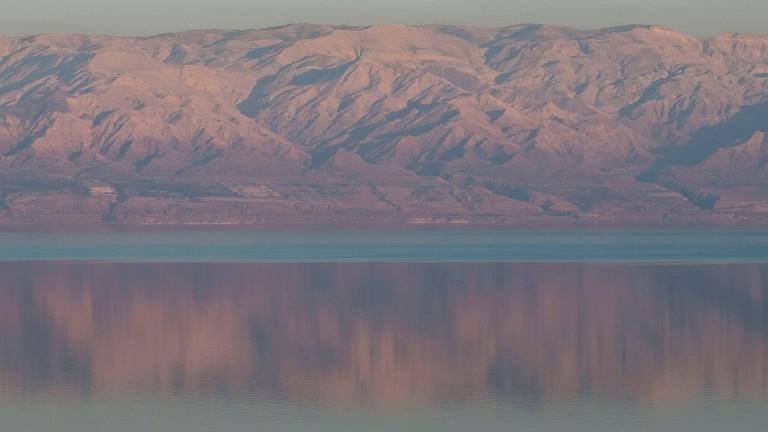Puesta de sol en el Mar Muerto. Foto de Flash90.