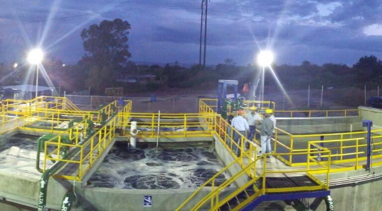 La planta de tratamiento de aguas residuales, en Durango, usa tecnología israelí. Foto cortesía.