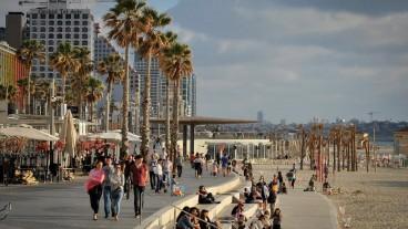 El malecón es un sitio ideal para escapar del trajín de Tel Aviv. Foto de Flash90.