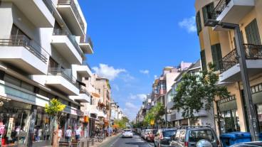 Venga con nosotros a caminar por la calle que está en el centro del Tel Aviv de avanzada. Foto de www.shutterstock.com.