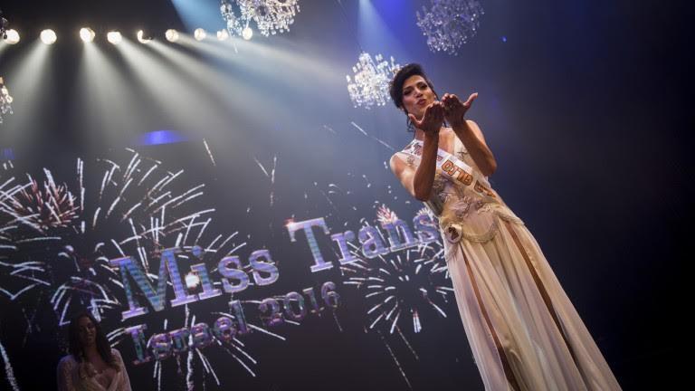 Taleen Abu Hanna, bailarina árabe cristiana, es Miss Trans Israel. Foto de Hadas Parush/Flash90.