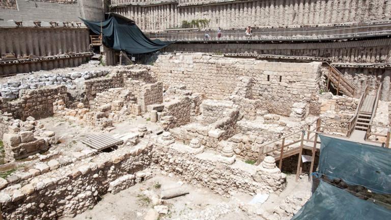 Excavación arqueológica en la Ciudad de David. Foto de Uri Lenz/FLASH90.