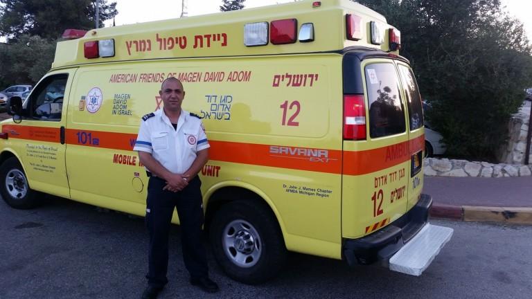 Ziad Dawiyat, paramédico de la MDA. Foto cortesía.