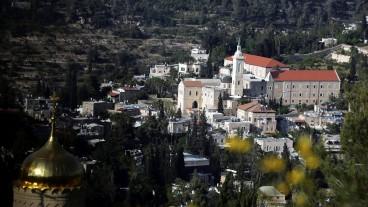 Vista parcial de Ein Kerem. A la der., la Iglesia de San Juan Bautista. Foto de Yossi Zamir/Flash90.