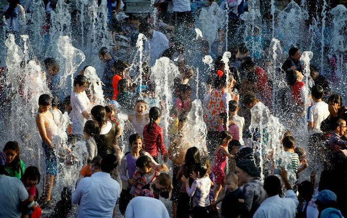 La fuente lleva el nombre del alcalde Teddy Kollek. Foto de Miriam Alster/FLASH90 (F140819MA01.JPG).