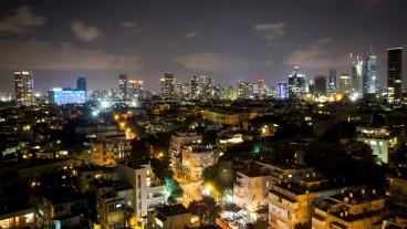 Tel Aviv de noche. Foto de Flash90.