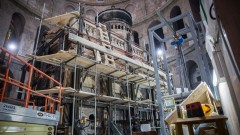 La tumba se halla en la Iglesia del Santo Sepulcro, en Jerusalén. Foto de Hadas Parush/Flash90.