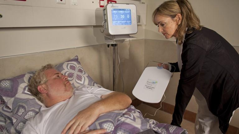 EarlySense se coloca bajo la cama del paciente. Foto cortesía.