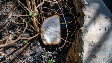 Los libros de la sinagoga fueron varios de los objetos destruidos en un incendio. Foto cortesía de Masorti.org.
