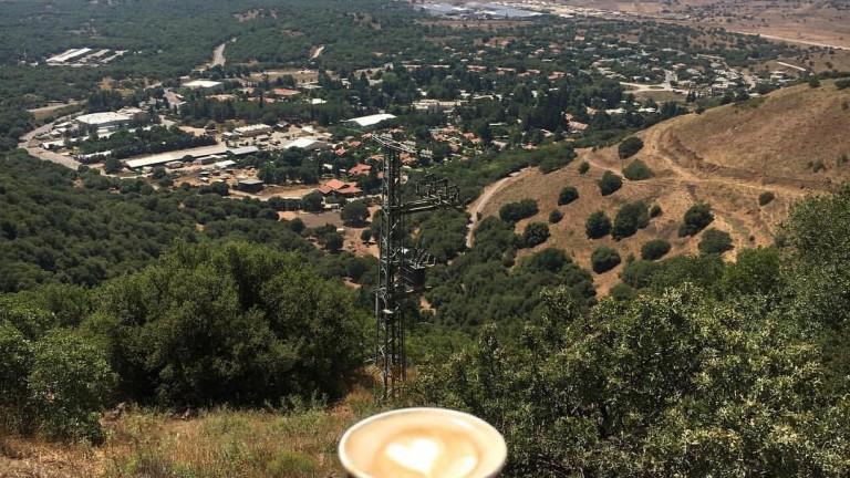 La frontera con Siria y los Altos del Golán deleitan la vista. Foto de Fatma Ghadeer en Facebook.