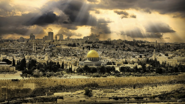 """Jerusalén de oro"", por Noam Chen."