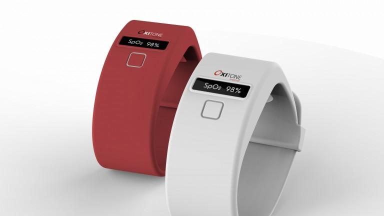 Prototipo de Oxitone para controlar el oxígeno en sangre. Cortesía.
