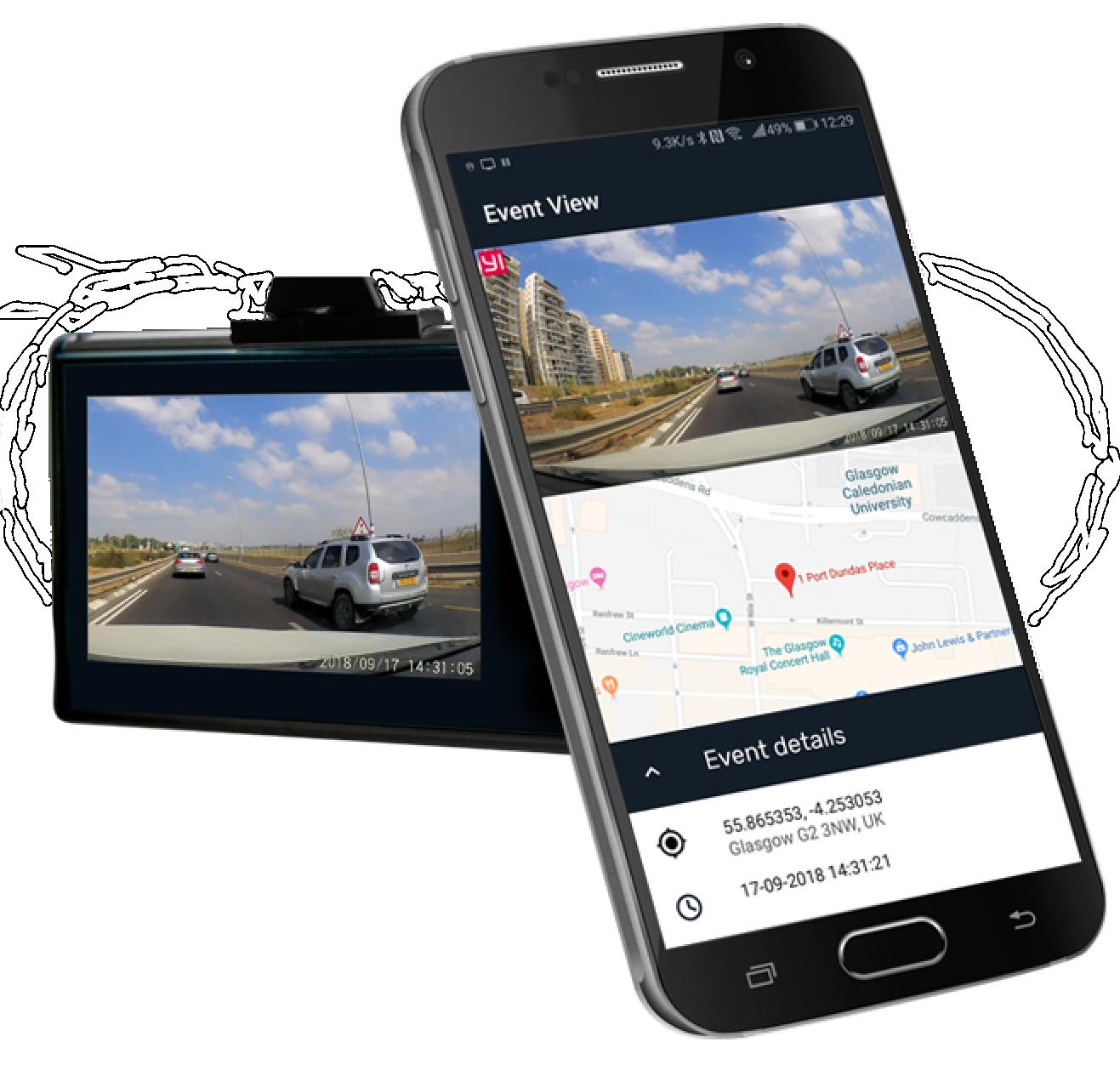 Las imágenes de las cámaras portátiles y la aplicación con rápido acceso a grabaciones de la cámara ayudan a los conductores. Foto: cortesía.