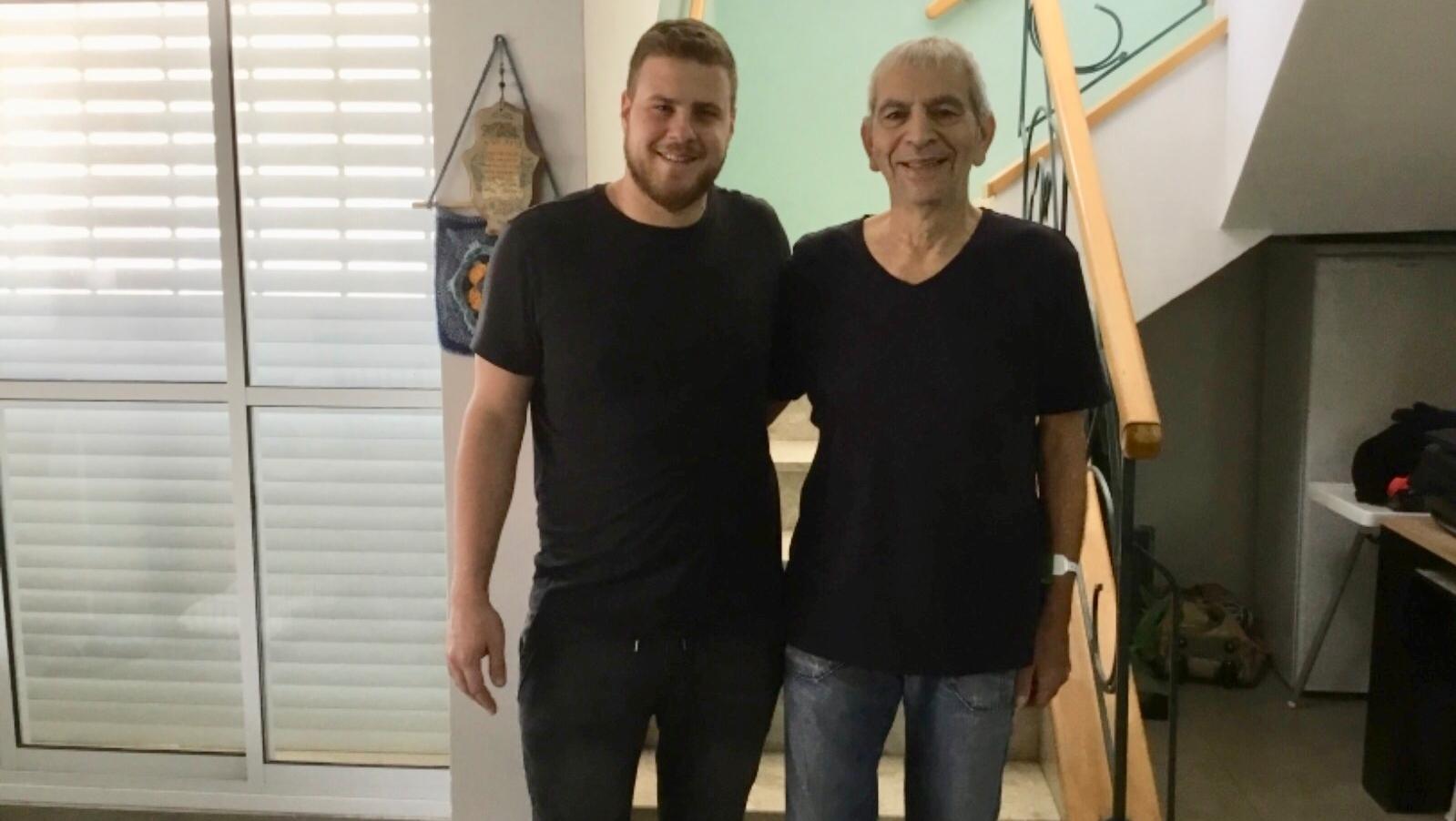 Snir y su padre, Avi Yavetz. Foto: cortesía