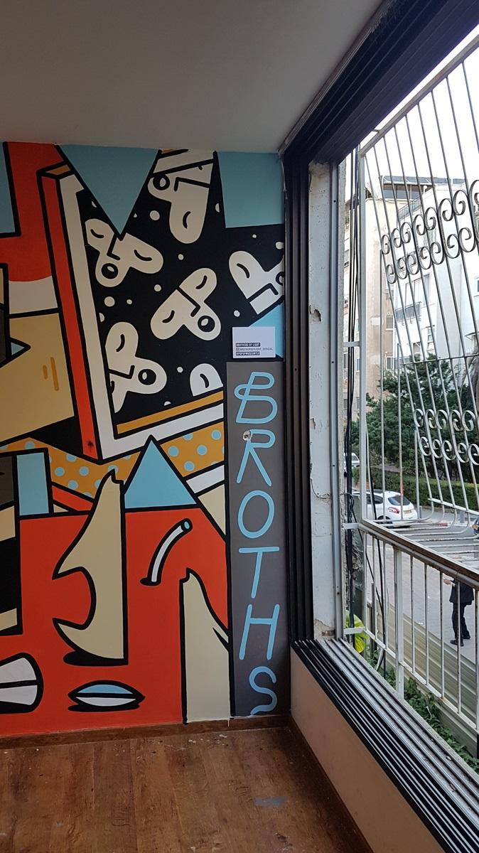 obras de arte geniales para sala de estar Tel Aviv Artistas Callejeros Convierten Un Edificio En Una