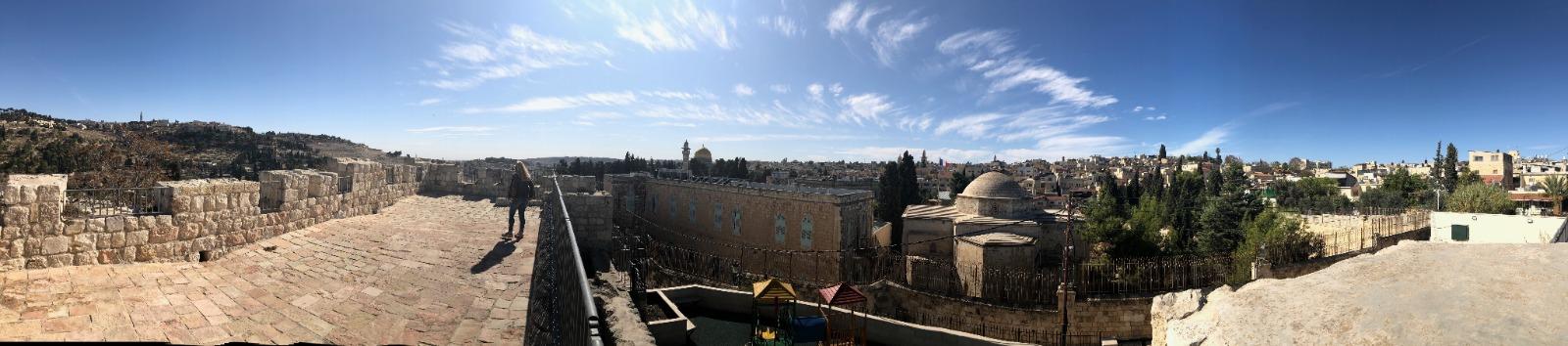 La zona norte del Paseo de las Murallas en Jerusalén. Foto cortesía de PAMI.